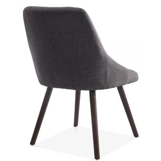 Dark Grey Upholstered Dining Chair Loza